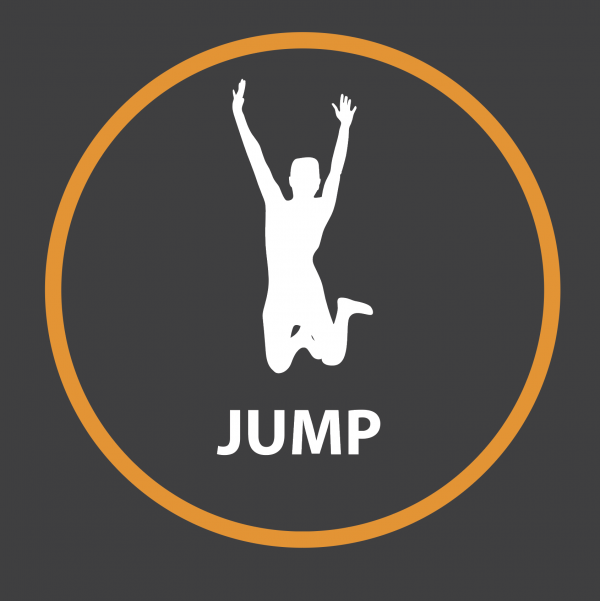 An image of a Jump Outline Active Spot Playground Marking