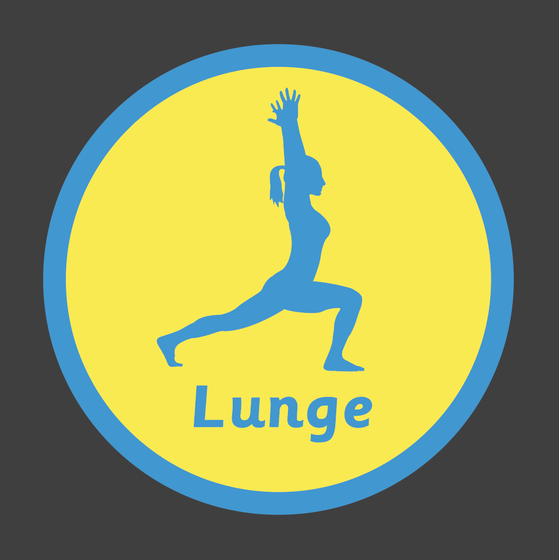 An image of a Lunge Solid Active Spot Playground Marking