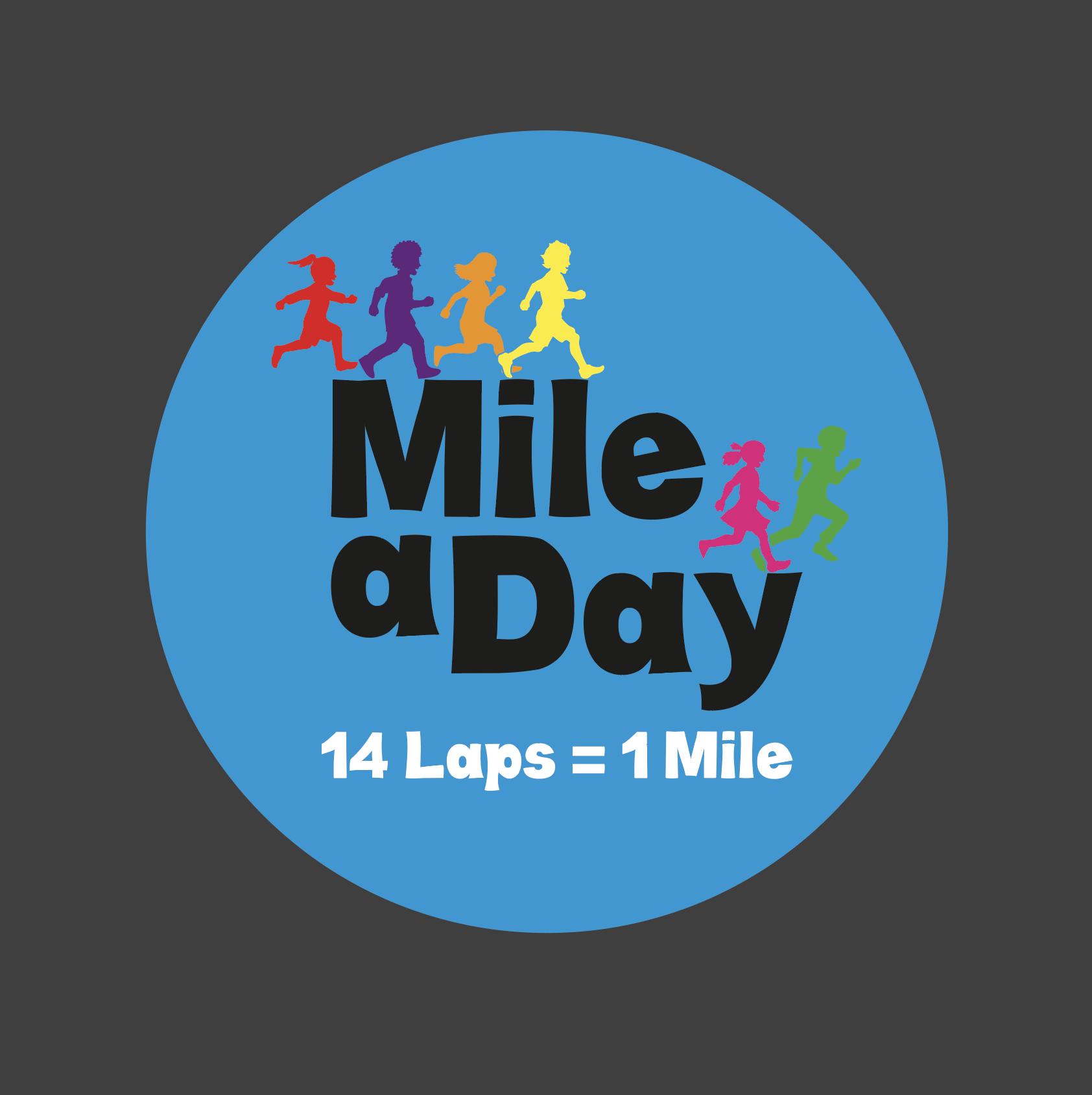 Mile a Day Logo Playground Marking