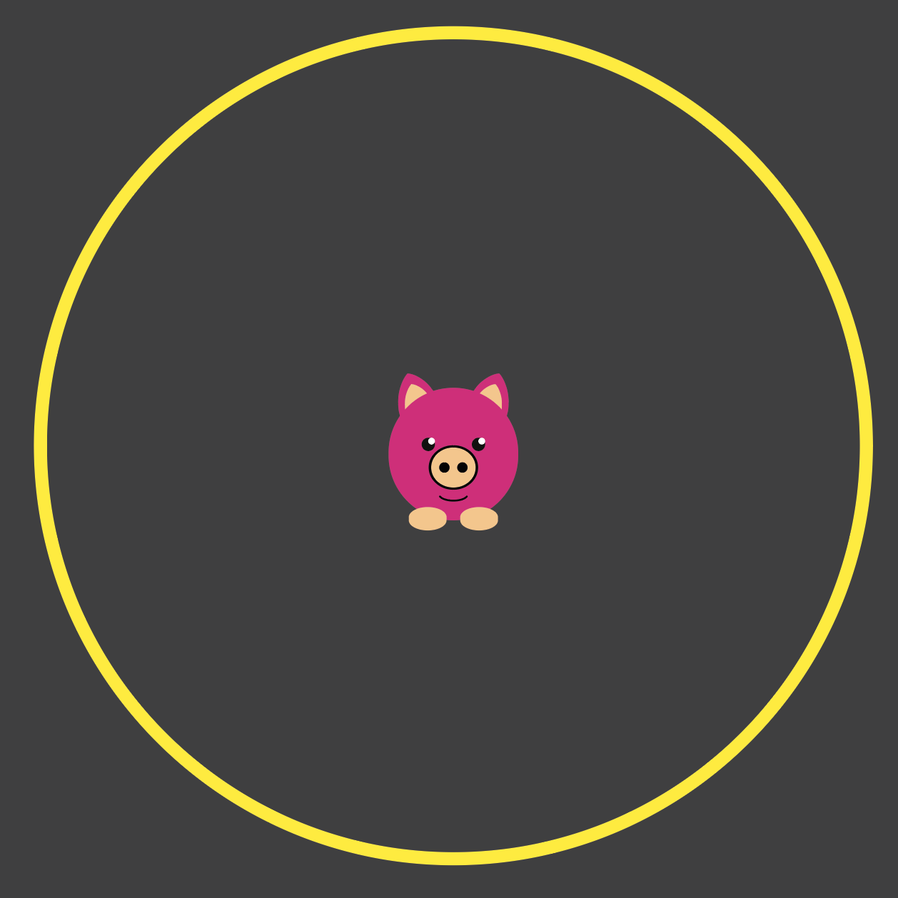 An image of a Piggy in the Middle Playground Marking