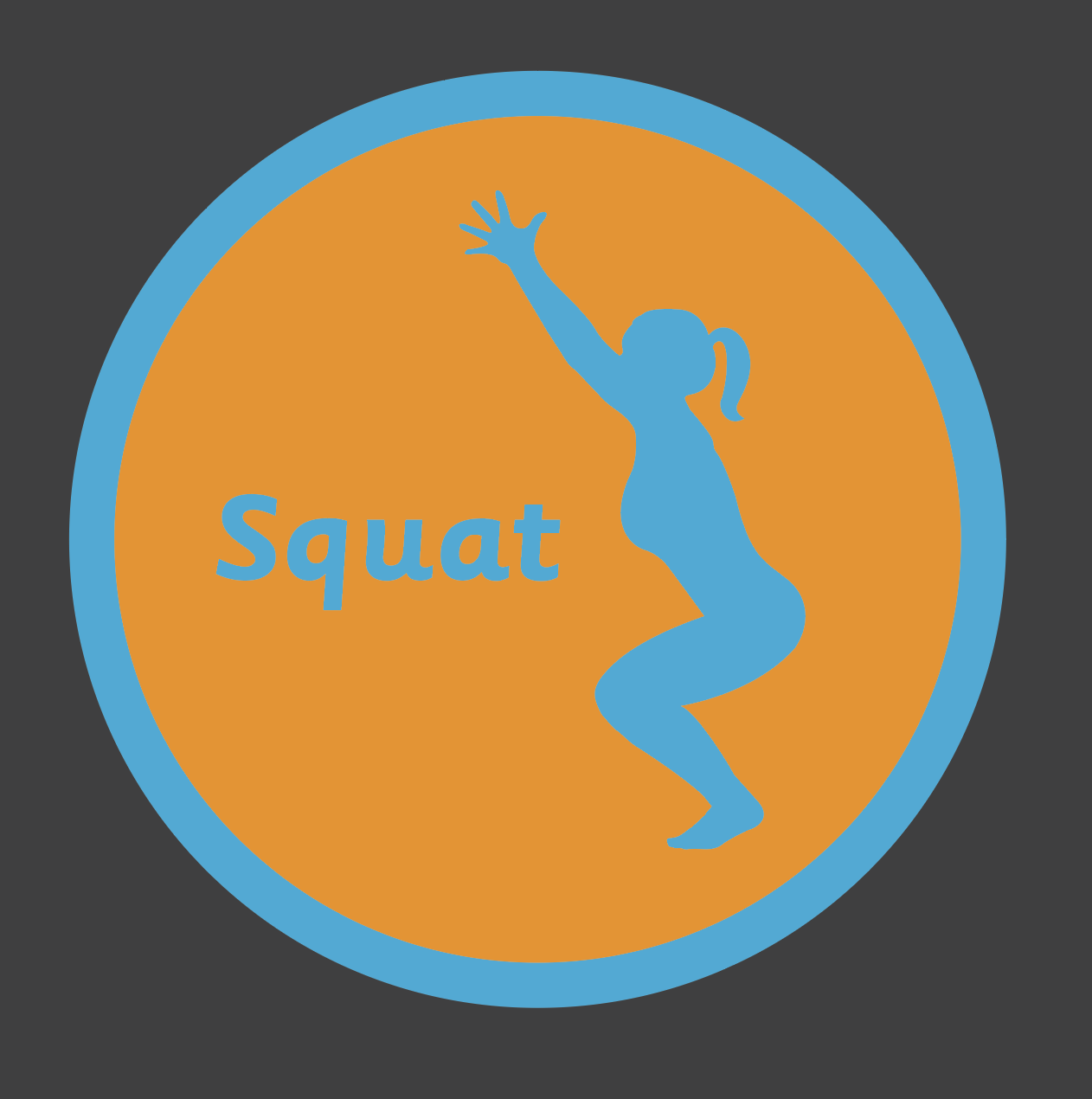 An image of a Squat Solid Active Spot Playground Marking