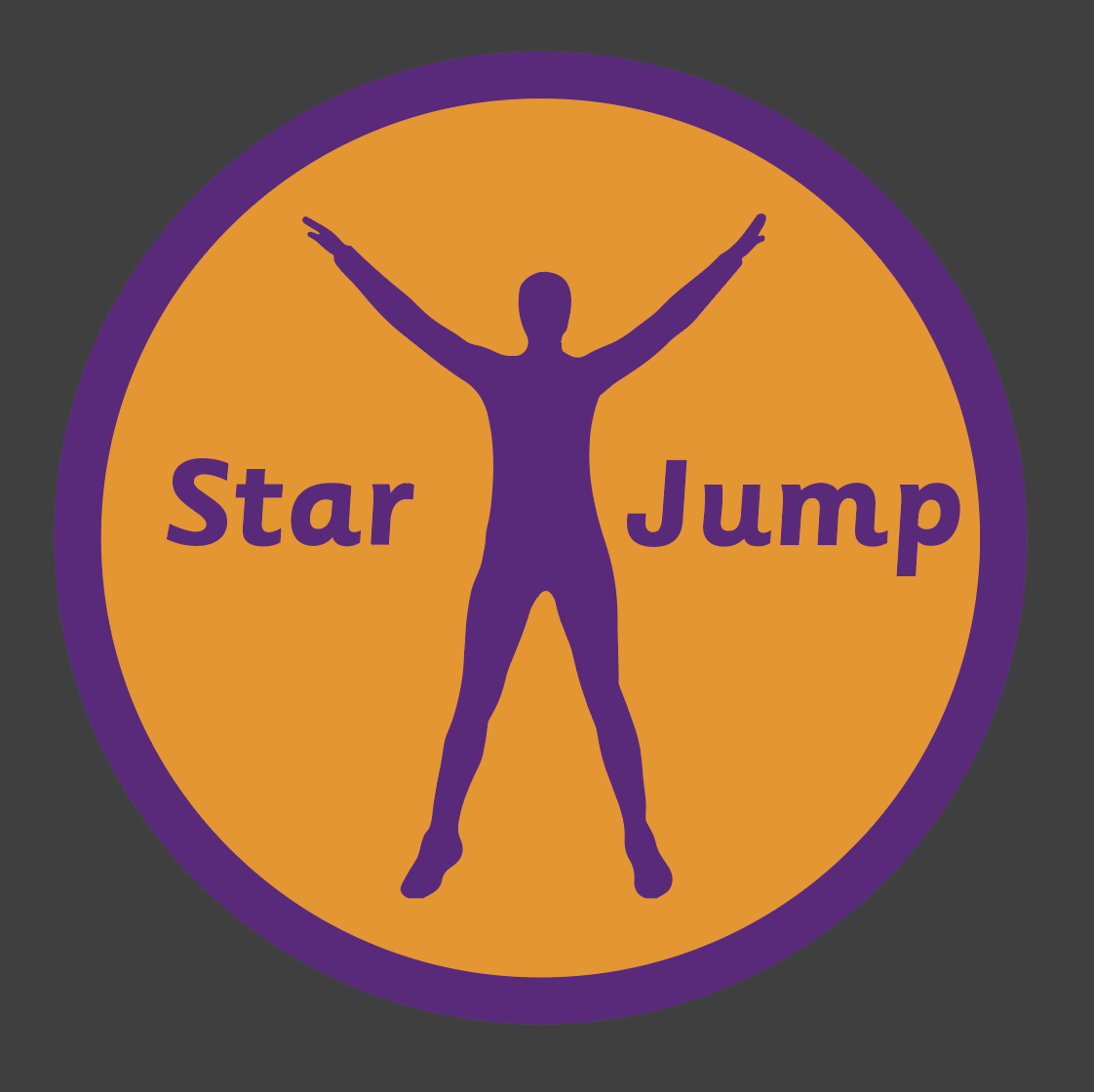 An image of a Star Jump Active Spot Playground Marking